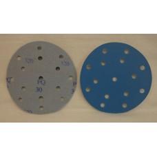 """Hook And Loop Velcro Disc 6"""" 150mm / 15 H grain 320"""