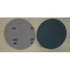 """Hook And Loop Velcro Zircon Disc ZiAl 5"""" 125mm / OH grit 80"""